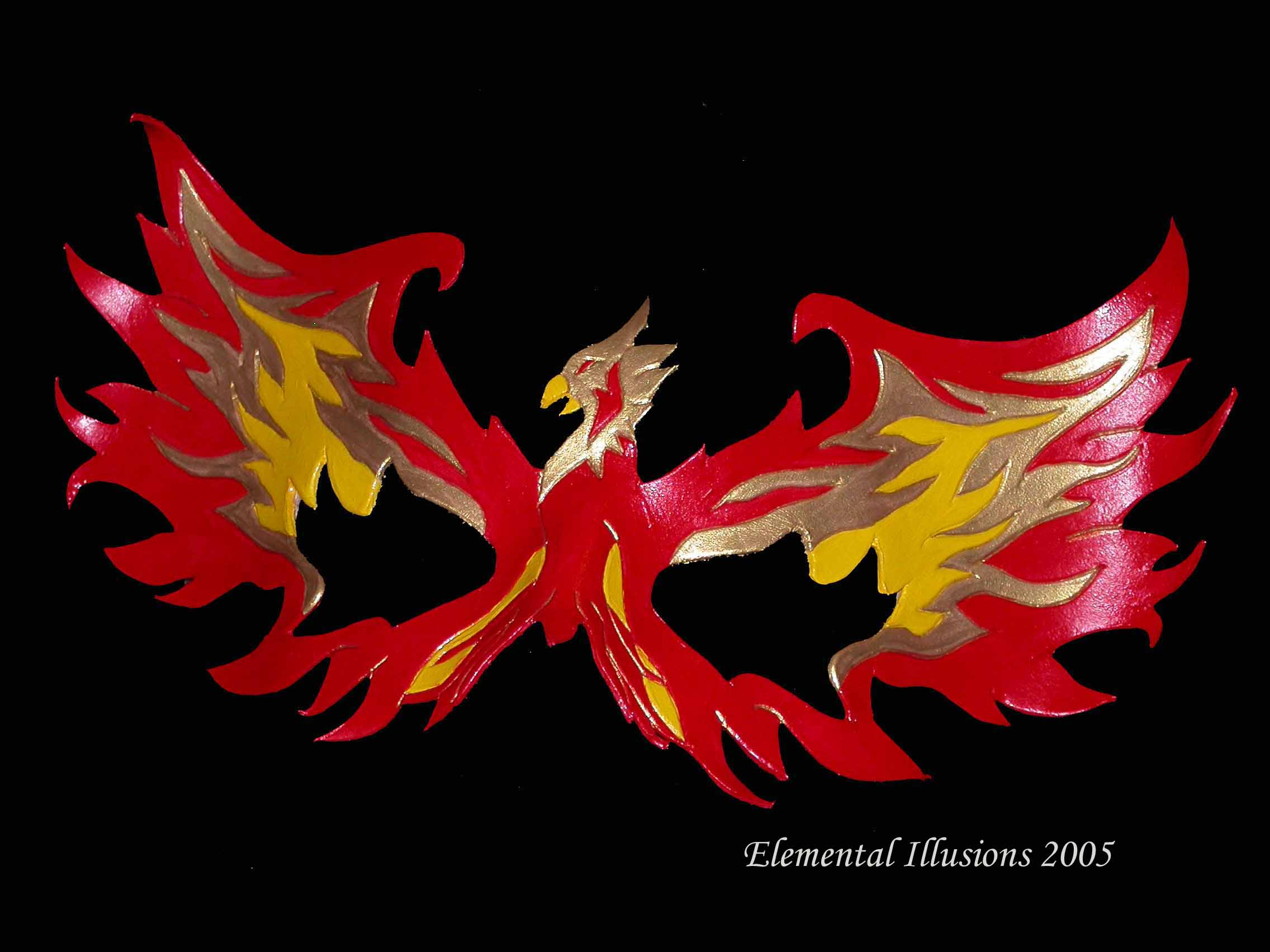Phoenix Bird Rising From Ashes